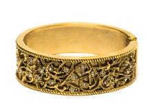 изолированное золотистое браслета Стоковая Фотография
