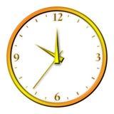 изолированное золотистое часов Стоковые Фотографии RF