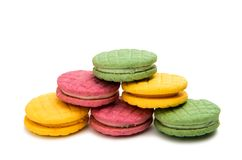 Изолированное печенье плодоовощ двойное Стоковое Изображение