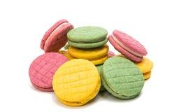 Изолированное печенье плодоовощ двойное Стоковые Фото