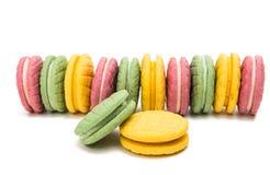 Изолированное печенье плодоовощ двойное Стоковые Изображения