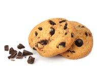 изолированное печенье шоколада обломока Стоковые Изображения