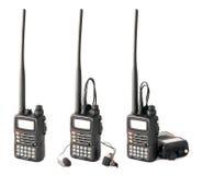 изолированное профессиональное walkie talkie Стоковые Фото