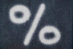 Изолированное процентами письмо мела в предпосылке классн классного Стоковое Изображение RF