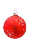 изолированное рождество bauble стоковое изображение