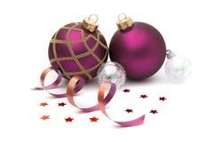 изолированное рождество baubles Стоковые Изображения RF