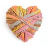 Изолированное сердце вязать Стоковое Изображение RF