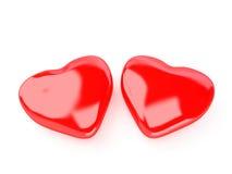 изолированное сердце Стоковые Изображения RF