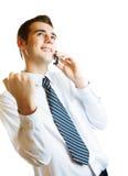изолированное счастливое бизнесмена Стоковая Фотография RF