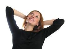 изолированное счастливое девушки стоковое фото rf