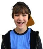 изолированное счастливое мальчика Стоковая Фотография