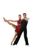 изолированное танцы пар Стоковое Изображение RF