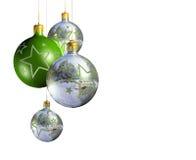 изолированное шикарное рождества baubles декоративное Стоковые Фотографии RF