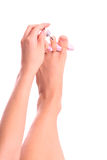 изолированное pedicure Стоковое фото RF
