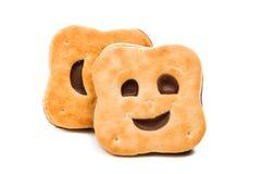 Изолированное smilie печенья Стоковые Изображения
