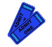 изолированные билеты 2 Стоковые Фотографии RF