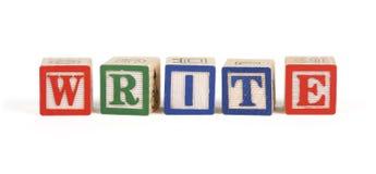 изолированные блоки алфавита пишут Стоковые Изображения