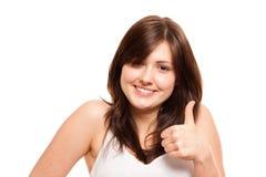 изолированные большие пальцы руки вверх Стоковые Фотографии RF