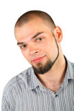 изолированные бородой детеныши скинхеда человека стоковое фото