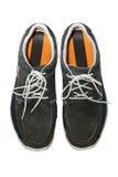 изолированные ботинки человека стоковое изображение