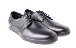 Изолированные ботинки чернокожих человеков Стоковое Изображение