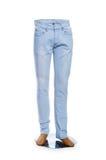 Изолированные брюки женщины стоковые изображения rf