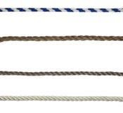 изолированные веревочки Стоковая Фотография