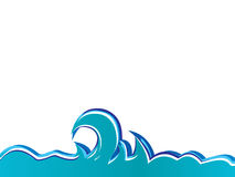 изолированные волны вектора Стоковое Изображение