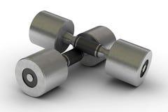 изолированные гантели metal 2 Стоковые Фотографии RF