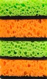 Изолированные губки кухни Стоковые Изображения RF