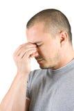 изолированные детеныши человека потревоженные белизной Стоковая Фотография RF
