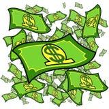 изолированные доллары Стоковые Фото