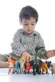изолированные животными игрушки малыша Стоковые Фотографии RF