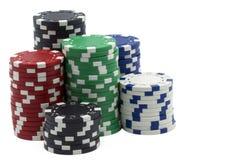 изолированные знаки внимания покера Стоковые Изображения RF