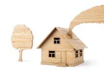 изолированные игрушки деревянные Стоковые Изображения RF