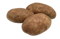 изолированные картошки Стоковая Фотография