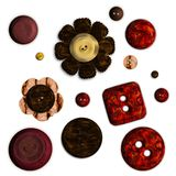 изолированные кнопки Стоковое Изображение