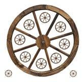 изолированные колеса фуры Стоковое Изображение