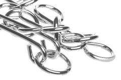 изолированные кольца головоломки макроса Стоковая Фотография