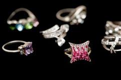 изолированные кольца различные Стоковое Изображение