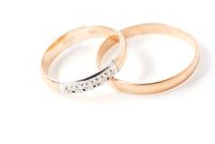 изолированные кольца wedding Стоковое Изображение RF