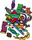 Изолированные конфеты установленные на белую предпосылку Стоковая Фотография RF