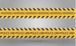 Изолированные линии изоляции Реалистические предупреждающие ленты Знаки опасности Иллюстрация вектора, изолированная на клетчатом бесплатная иллюстрация