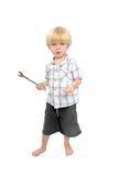 изолированные мальчиком большие играя детеныши гаечного ключа съемки Стоковое Изображение