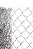 изолированные металлические белые проводы Стоковое Изображение