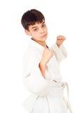 Изолированные методы бой мальчика Стоковые Изображения