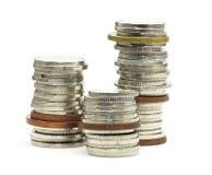 изолированные монетки стоковое фото