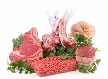 изолированные мяс сырцовые Стоковое Изображение RF