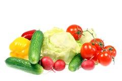 изолированные овощи белые Стоковое Изображение RF