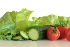 изолированные овощи салата Стоковая Фотография